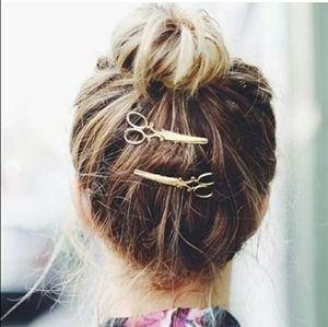 Gold Scissor Hair Clips-Set of 2
